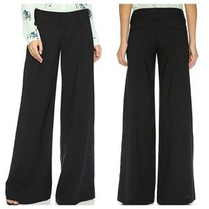 Alice + Olivia Eric Wide Leg Cotton Blend Pants